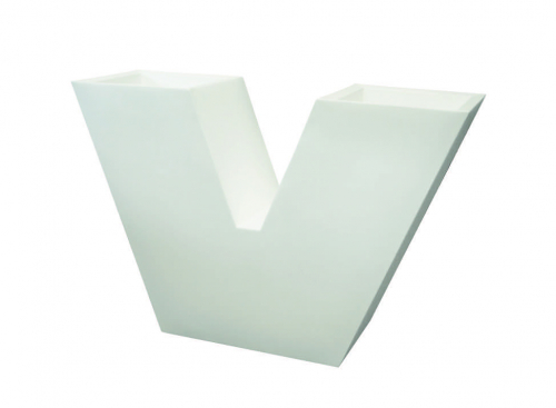 Raumteiler/Vase VELVET, weiß