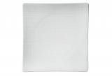 MESH Teller flach quadrat 27 x 27 cm, white