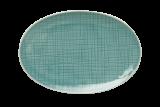 MESH plate oval 18 x 12 cm, aqua