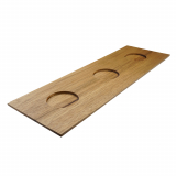 JUNTO tray Wood with 3 indentations