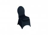 Stretchhusse für Bankettstuhl, schwarz