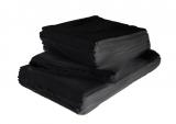 Serviette, schwarz, 50 x 50 cm