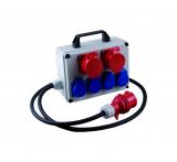 distributor cube 1 x 400 V, CEE 16 on 3 x 230 V, 2 x CEE 16