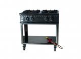 gas stove, 4 flames