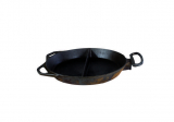 big pan for stove divided  Ø 65 cm