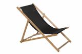 Liegestuhl, schwarz