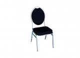 banquet chair, black/silver