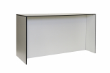 table BRIDGE HIGH, with floor lenght panael, white