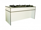 warm edition (top) for table BRIDGE LOW with 4 cutouts for chafing dishes