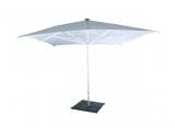 Schirm, weiß, eckig 400 x 400 cm, inkl. Fuß