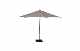 Schirm, natur, rund Ø 350 cm, inkl. Fuß