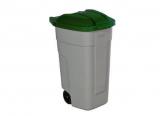 Mülleimer, rollbar mit Deckel, 110 Liter