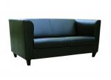 Sofa CLUB, schwarz-braun