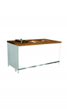 cooking station/buffet table CLASSIC warm edition with 4 cutouts for chafing dishes