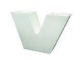 room divider/vase VELVET, white
