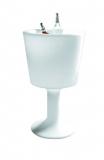 DRINK LIGHT - champagne cylinder, white