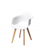 chair CECILE with armrest, white