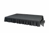Skirting/Molton für Bühnenpodest, 40 cm, schwarz